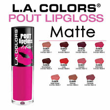( 11 COLORS SET ) LA L.A. COLORS Girl POUT *MATTE* LIPGLOSS  *US SEELER*