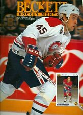 1992 Beckett Hockey Monthly Magazine #20: Gilbert Dionne - Montreal Canadiens