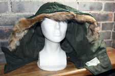X-51 X51 Fur Lined Hood Korea Vietnam War Era Canadian Military Fits USMC M-1951