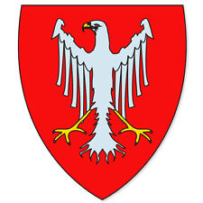 "Frankfurt Germany Coat of Arms bumper sticker 4"" x 5"""