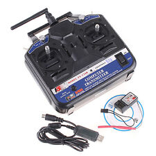 2.4G FS-CT6B 6CH Radio Model RC Transmitter & Receiver