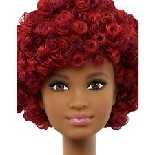 2016 Barbie NUDE Evolution Fashionistas TALL AA Doll #33 Short Curly Red Hair