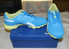 REEBOK TEMPO FLEX 2 SHOES WOMENS SIZE 7.5 BLUE/YELLOW J22210 NIB FREE SHIPPING