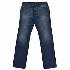Tommy Hilfiger Jeans Mens Straight Fit Slim Leg Blue Denim Brown Patch New Nwt