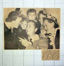 1949 Film Actor Robert Young With Carol Ann, Kathy, Betty Lou, Barbara Mrs Young