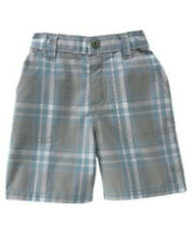 NWT 18-24 Months Gymboree ROCK ON Dark Gray Plaid Woven SHORTS