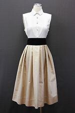NWT. $3245 Brunello Cucinelli Silk Satin Tri-Tone Tuxedo Ball Gown Dress Size M