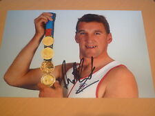 Firmato Sir Matthew pinsent 12x8 FOTO-quattro tempi OLIMPIADI CANOTTAGGIO ORO Medalist