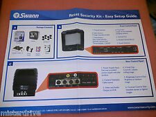 Swann  Retail Security Monitor Kit 4 CCTV Cameras Security Monitoring System A1