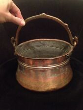 Hand Forged Antique Copper?? Pot For The Hearth