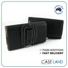 L-HORIZONTAL LEATHER COVER CASE WITH BELT CLIP FOR ALDI MOBILE BAUHN ASP-5000H