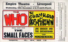 THE WHO & SMALL FACES REPRO 1968 LIVERPOOL EMPIRE CONCERT POSTER . NOT CD DVD