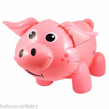 55cm Farm Farmyard Children's Party Cute Pink Pig Inflatable Prop Decoration
