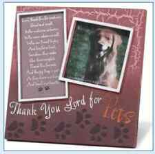 Thank You Lord for Pets Prayer Resin Frame Paw Prints 5 x 5 Dog Cat Lover Gift