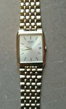 MENS SEIKO QUARTZ Square face GOLD WATCH