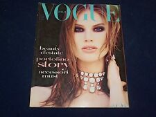 1992 JUNE VOGUE ITALIA MAGAZINE - MEGHAN DOUGLAS COVER - GREAT FASHION - O 5320