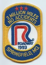 Roadway Express 1993 3 million miles Springfield, MO  drivers patch 4X2-3/4 inch