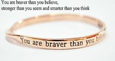 Sterlina Milano Rose Gold Sentimental Meaningful Message Bangle Bracelet Gift