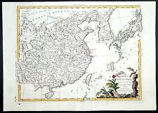1784 Original decorative Zatta map China Japan Korea. Very nice condition!