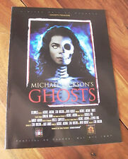 PROGRAMME GHOSTS  MICHAEL JACKSON CANNES 1997 COLLECTOR NEUF LARGE FRENCH BOOK
