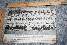 1945 CHICAGO CUBS NATIONAL PENNANT WINNING TEAM PHOTO FROM BASEBALL MAGAZINE