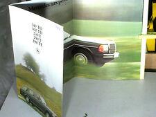 DEPLIANT/AFFICHE : MERCEDES BREAK T230/280/300/ TD240/300 : 1978 french edit.