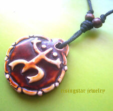 Men Women Unique Taino Tribal Culture Lucky Frog Cogui Embossed Necklace