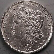 1879 1$ Morgan Silver Dollar. A.U. Grade. Cleaned. 0111