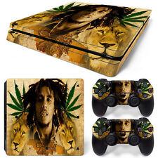Sony PS4 Playstation 4 Slim Skin Aufkleber Schutzfolie Set - Bob Marley Motiv