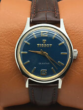 VINTAGE TISSOT SEASTAR Blue DIAL MANUAL WINDING 17 JEWELS (GREAT CONDITION