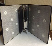 """VTG 3 RING 2"""" PIANO HINGE HEAVY DUTY INDUSTRIAL OFFICE BLACK BINDER BY COLUMBIA"""