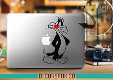 Sylvester Cartoon Macbook Stickers on vinyl | Laptop sticker | Disney Decal