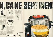 Publicité Advertising 1969 (Double page)  Friteuse électrique SEB