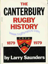 THE CANTERBURY RUGBY HISTORY NEW ZEALAND BOOK - LARRY SAUNDERS 1979