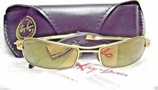 "RAY-BAN *NOS VINTAGE B&L ORBS ""AXIS"" W2308  Brushed Gold Mirrored NEW SUNGLASSES"