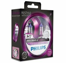 Philips H7 ColorVision purple headlight bulb +60% Set 2x H7 12V 55W 12972CVPPS2