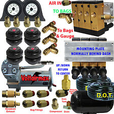 "Air Ride Suspension Manifold Valve 3/8""npt Manual Air Bag Control fbss 200psi z"