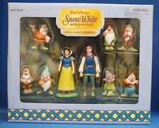 Snow White Seven Dwarfs Disney Disneyland Rare PVC Figure Set Figurines Cake Top