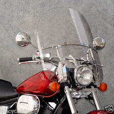 Honda Shadow Spirit VT 750 DC & C2 - 2up switchblade windshield & chrome kit