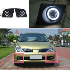 for Nissan Tiida 2005-2006 White Front Bumper Angel Eyes DRL Fog/Driving Light