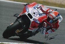 Andrea Dovizioso Hand Signed 12x8 Photo Ducati MOTOGP 2.