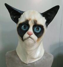 Siamese Cat Mask Latex Grumpy Pussy Animal Fancy Dress Stag Party Feline Ragdoll