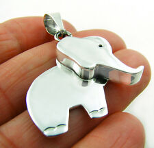 925 Sterling Silver Pendant Lucky Ganesh Elephant Animal Design
