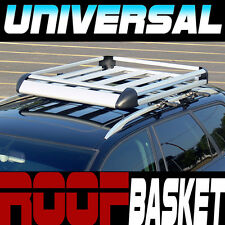 "Silver Aluminum 50"" Roof Rack Rail Basket Cargo Bag Utility Gear Container SB2"