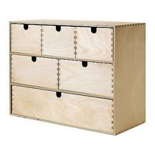 Craft Wood Effect Chest of 6 Drawers storage Plain wood for easy paint decorate