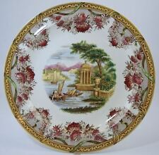 "ANTIQUE WEDGWOOD POLYCHROME TRANSFER CREAMWARE PLATE ""THE FESTOON"" 10"""
