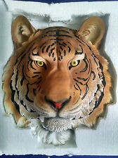 TIGER Head Hanging Wall Mount Home Decor Statue Bust