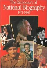The Dictionary of National Biography: 9th Supplement: 1971-1980 (Dicti-ExLibrary