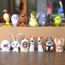 14pc Cute The Secret Life of Pets Movie Cake Mac Topper Figures Toy Gift Collect