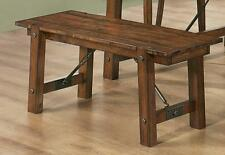 Transitional Lawson Rustic Pecan Finish Dining Bench by Coaster 103993